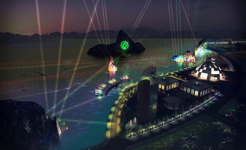 Hiệu ứng ánh sáng công nghệ cao trang trí cầu Bãi Cháy và Vịnh Hạ Long