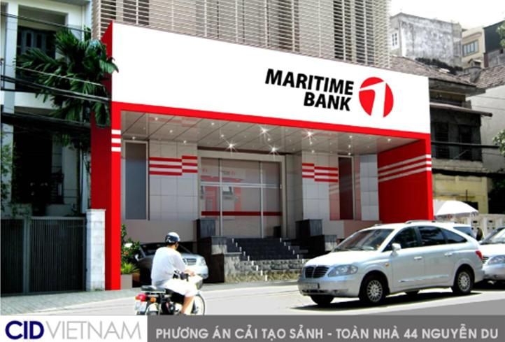 Kiến trúc mặt ngoài hệ thống điểm giao dịch MARITIME BANK